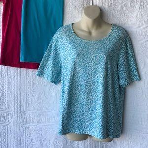 Bundle of 3 Denim&Co. Cotton/Spandex T-shirts - M